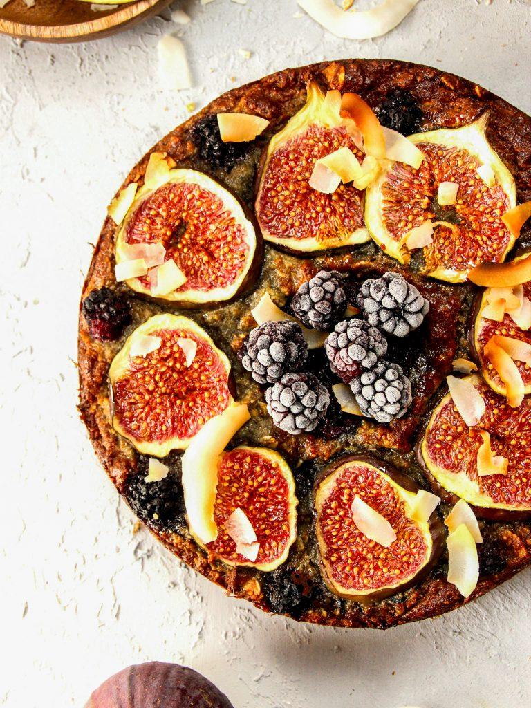 Glutenvrije herfstcake met vijgen