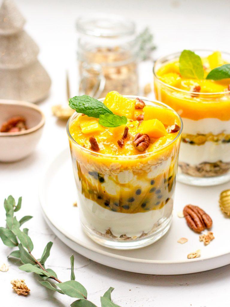 Mango passievrucht trifle