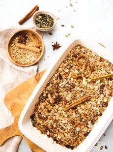 Recept voor gezonde granola