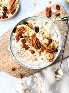 Peer kaneel overnight oats