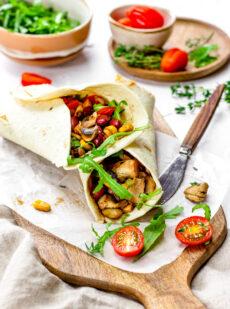 Vega wraps met groenten en bonen