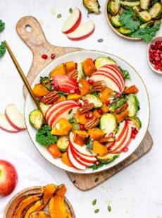 Frisse salade met pompoen en appel