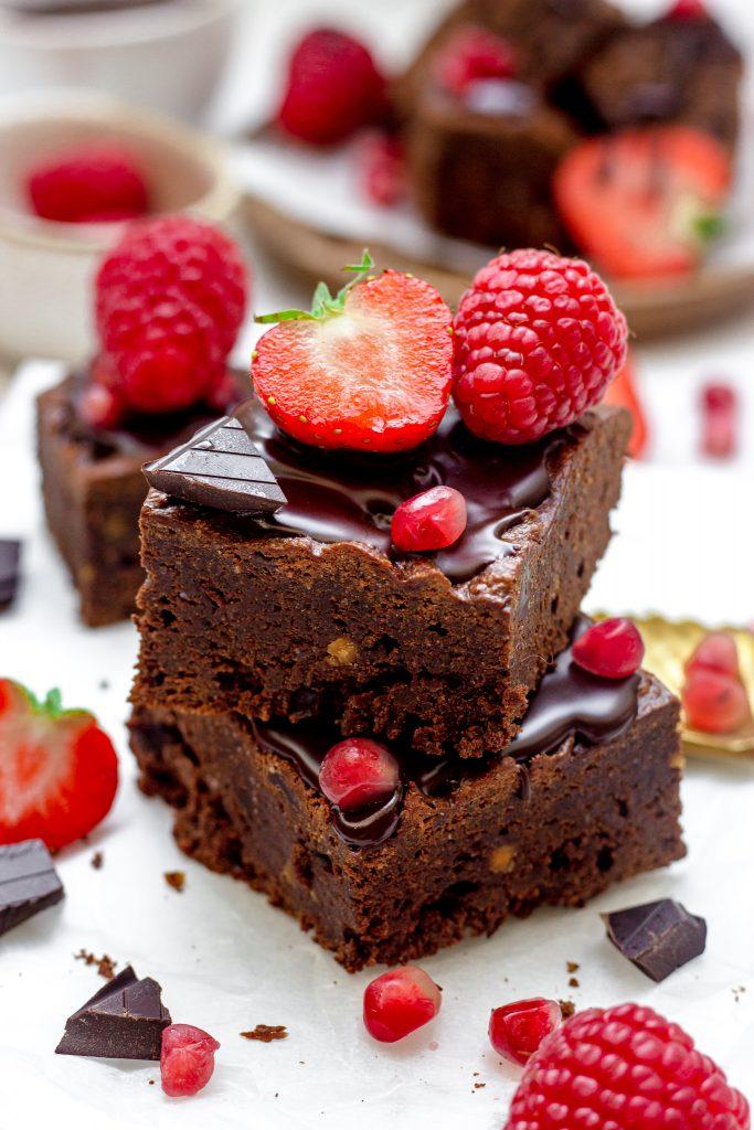 Gezondere chocolade brownies met pindakaas