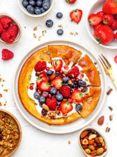 Gezonde ontbijtpizza met kwark