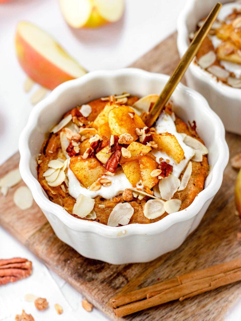 Gezond appeltaart ontbijttaartje