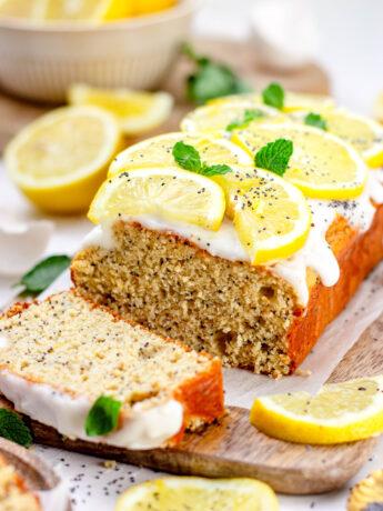 Gezonde citroen maanzaad cake