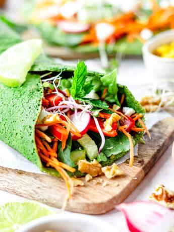 Gezonde spinazie wraps
