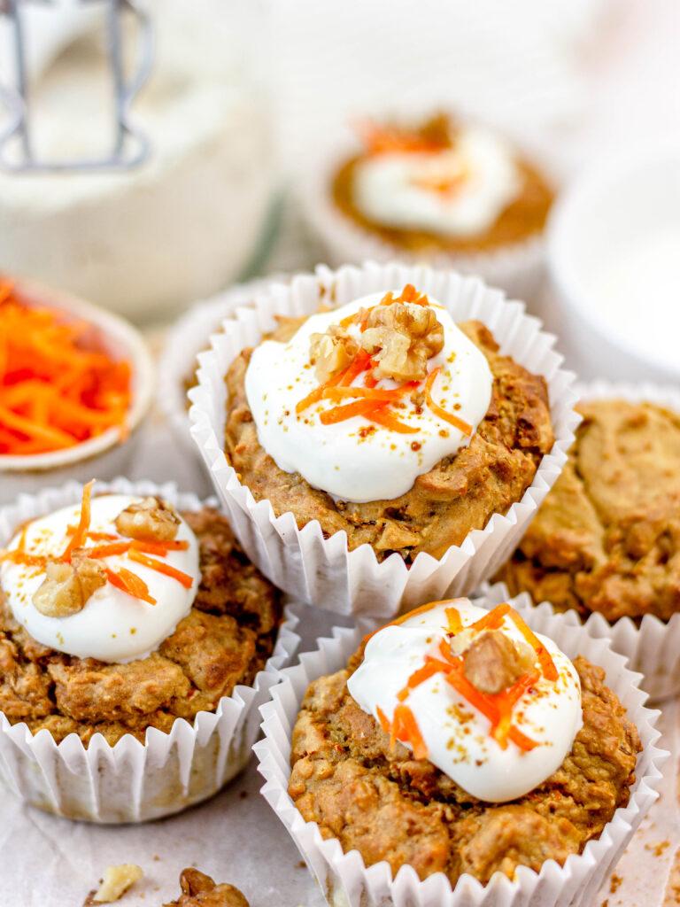 Gezonde vegan carrot cake muffins