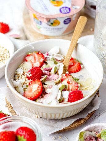 plantaardige yoghurt bowl