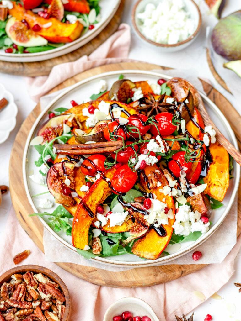 Pompoen salade met vijgen